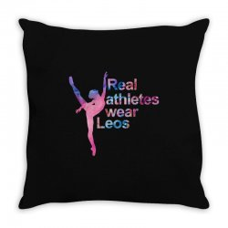 real athletes wear leos Throw Pillow | Artistshot