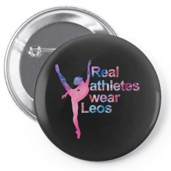 real athletes wear leos Pin-back button | Artistshot