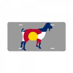 boer goat colorado hometown series License Plate | Artistshot