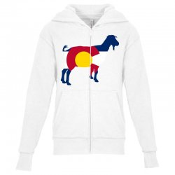 boer goat colorado hometown series Youth Zipper Hoodie | Artistshot
