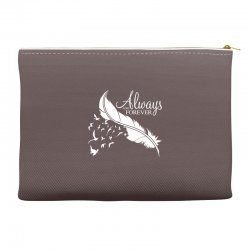 always and forever for dark Accessory Pouches | Artistshot