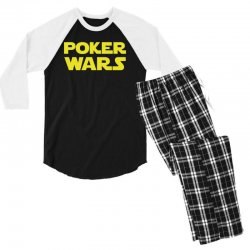 poker wars Men's 3/4 Sleeve Pajama Set | Artistshot