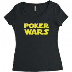 poker wars Women's Triblend Scoop T-shirt | Artistshot