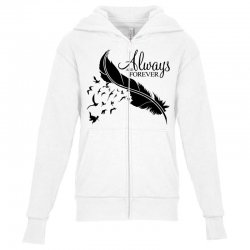 always and forever for light Youth Zipper Hoodie | Artistshot