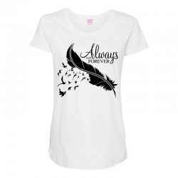 always and forever for light Maternity Scoop Neck T-shirt | Artistshot