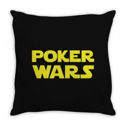 poker wars Throw Pillow | Artistshot