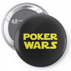 poker wars Pin-back button | Artistshot