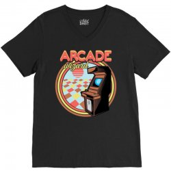 arcade wizard for dark V-Neck Tee | Artistshot