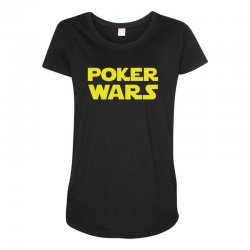poker wars Maternity Scoop Neck T-shirt | Artistshot