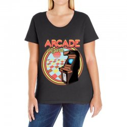 arcade wizard for dark Ladies Curvy T-Shirt | Artistshot
