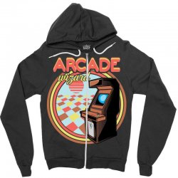 arcade wizard for dark Zipper Hoodie | Artistshot