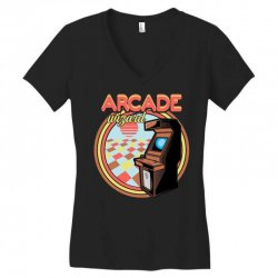 arcade wizard for dark Women's V-Neck T-Shirt | Artistshot