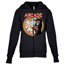 arcade wizard for dark Youth Zipper Hoodie | Artistshot