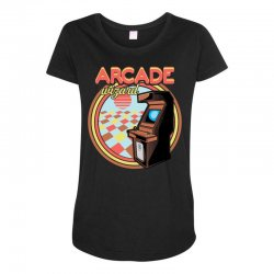 arcade wizard for dark Maternity Scoop Neck T-shirt | Artistshot