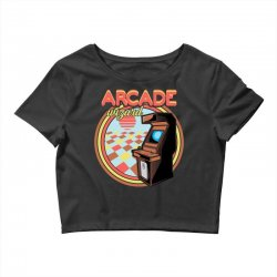 arcade wizard for dark Crop Top | Artistshot