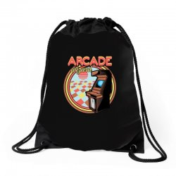 arcade wizard for dark Drawstring Bags | Artistshot