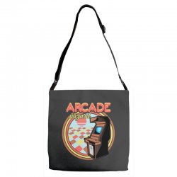 arcade wizard for dark Adjustable Strap Totes | Artistshot