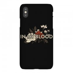 in my blood for dark iPhoneX Case | Artistshot