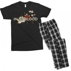 in my blood for dark Men's T-shirt Pajama Set | Artistshot