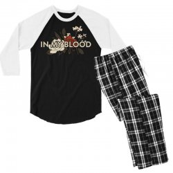 in my blood for dark Men's 3/4 Sleeve Pajama Set | Artistshot