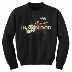 in my blood for dark Youth Sweatshirt | Artistshot