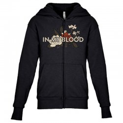 in my blood for dark Youth Zipper Hoodie | Artistshot