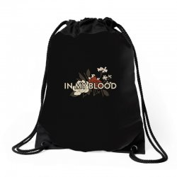 in my blood for dark Drawstring Bags | Artistshot