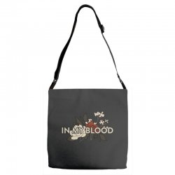 in my blood for dark Adjustable Strap Totes | Artistshot