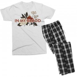 in my blood for light Men's T-shirt Pajama Set | Artistshot