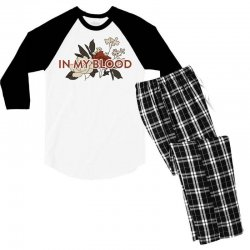 in my blood for light Men's 3/4 Sleeve Pajama Set | Artistshot