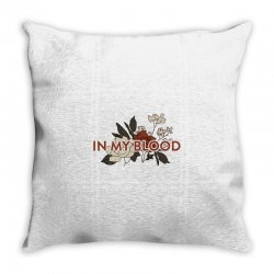 in my blood for light Throw Pillow | Artistshot