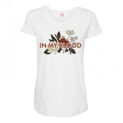 in my blood for light Maternity Scoop Neck T-shirt | Artistshot