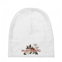 in my blood for light Baby Beanies | Artistshot