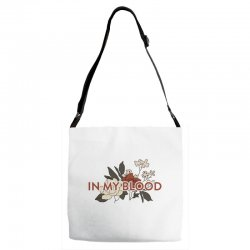 in my blood for light Adjustable Strap Totes | Artistshot