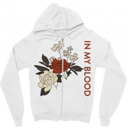 in my blood shawn mendes for light Zipper Hoodie | Artistshot