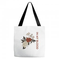 in my blood shawn mendes for light Tote Bags | Artistshot