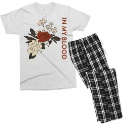 in my blood shawn mendes for light Men's T-shirt Pajama Set | Artistshot