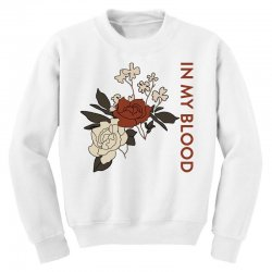 in my blood shawn mendes for light Youth Sweatshirt | Artistshot