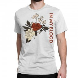 in my blood shawn mendes for light Classic T-shirt | Artistshot