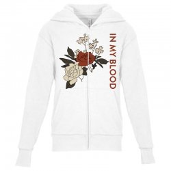 in my blood shawn mendes for light Youth Zipper Hoodie | Artistshot