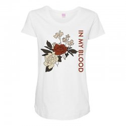 in my blood shawn mendes for light Maternity Scoop Neck T-shirt | Artistshot