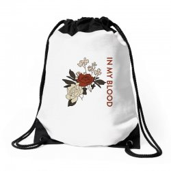 in my blood shawn mendes for light Drawstring Bags | Artistshot