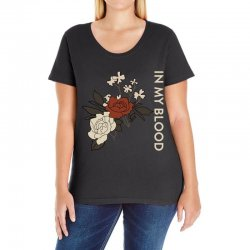 in my blood shawn mendes Ladies Curvy T-Shirt | Artistshot