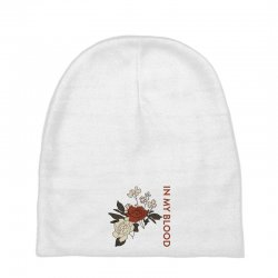 in my blood shawn mendes for light Baby Beanies | Artistshot