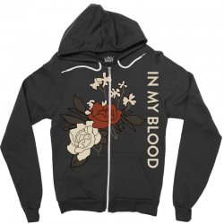 in my blood shawn mendes Zipper Hoodie | Artistshot