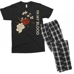 in my blood shawn mendes Men's T-shirt Pajama Set | Artistshot