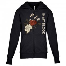 in my blood shawn mendes Youth Zipper Hoodie | Artistshot