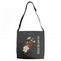 in my blood shawn mendes Adjustable Strap Totes | Artistshot