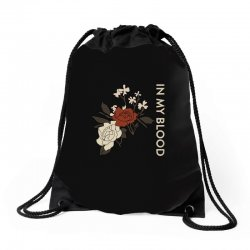 in my blood shawn mendes Drawstring Bags | Artistshot