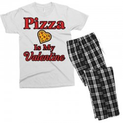 pizza is my valentine for light Men's T-shirt Pajama Set | Artistshot
